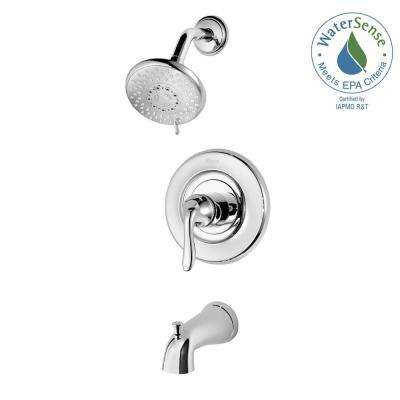 Universal Single-Handle Tub and Shower Faucet Trim Kit in Polished Chrome (Valve Not Included)