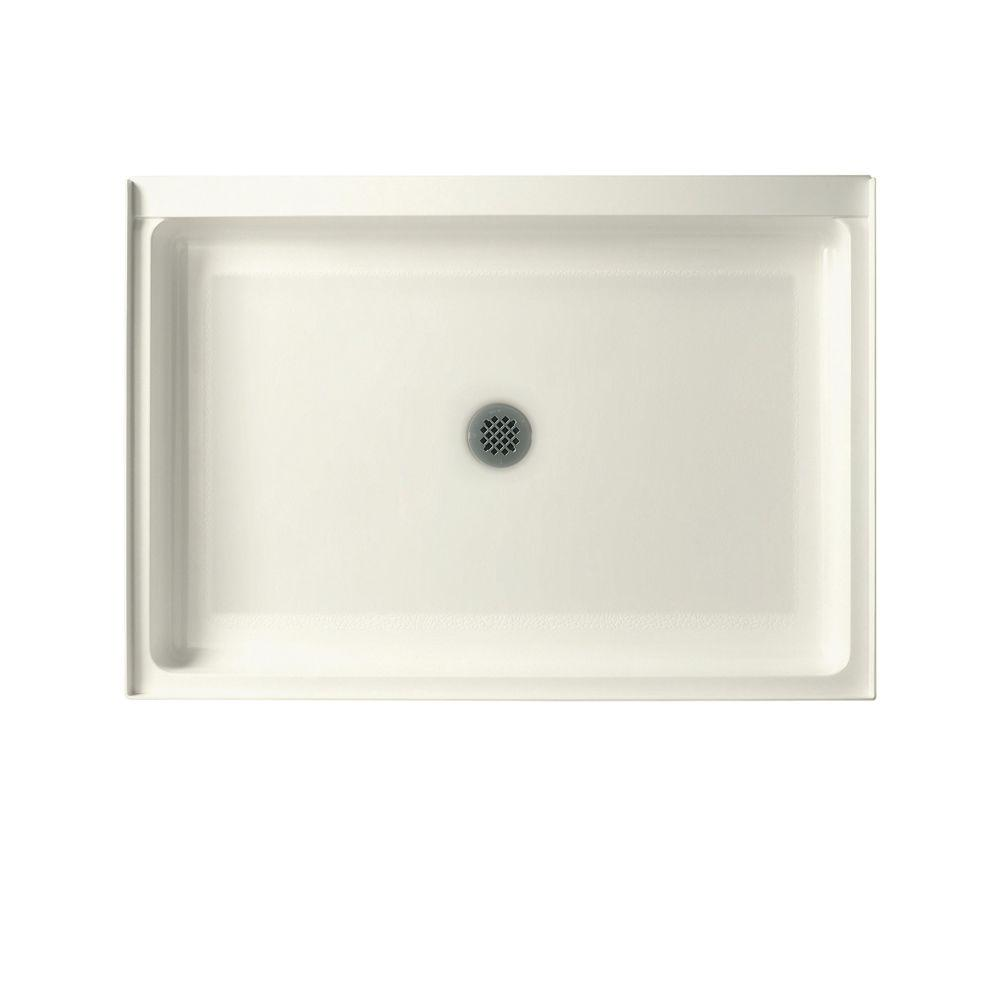 Swan 34 in. x 42 in. Solid Surface Single Threshold Shower Floor in Bisque