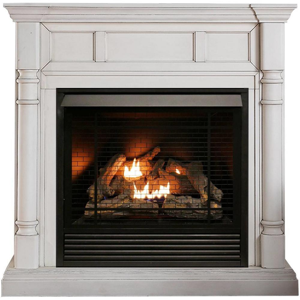32,000 BTU Ventless Dual Fuel Fireplace