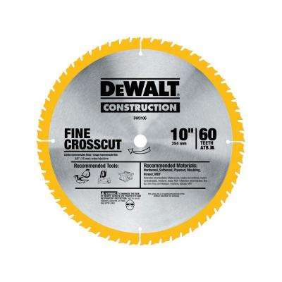 20 Series 10 in. 60T Fine Finish Saw Blade