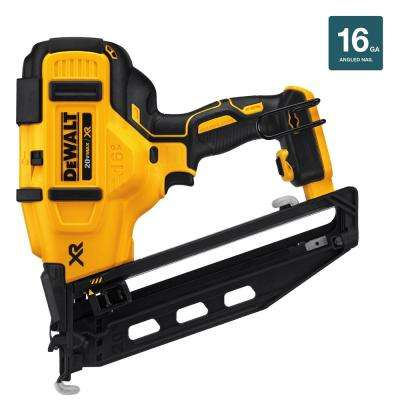 20-Volt MAX XR Lithium-Ion Cordless 16-Gauge Angled Finish Nailer (Tool-Only)