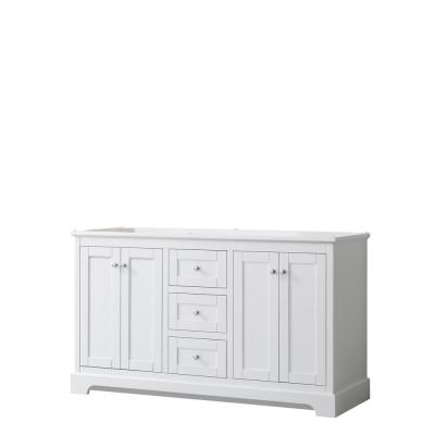 Avery 59.25 in. W x 21.75 in. D Bathroom Vanity Cabinet Only in White