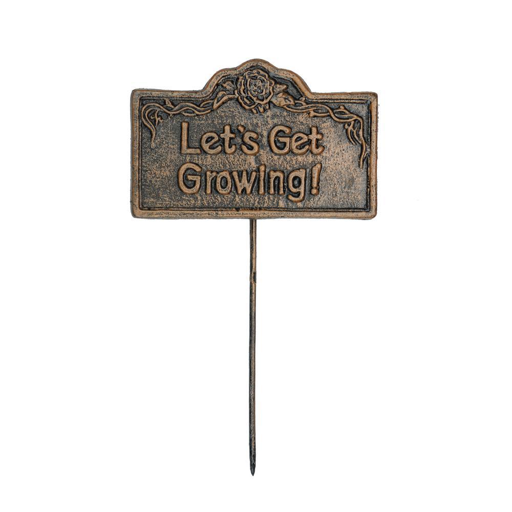 Garden Marker Let's Get Growing Sign