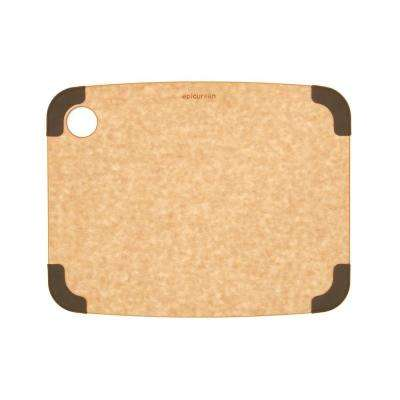Non-Slip 12 in. x 9 in. Rectangular Wood Fiber Composite Cutting Surface