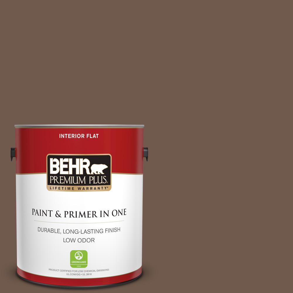 1 gal. #PPF-52 Rich Brown Flat Low Odor Interior Paint and