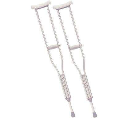 Walking Crutches with Underarm Pad and Handgrip for Tall Adult