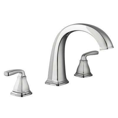 Mason 2-Handle Deck-Mount Roman Tub Faucet in Chrome