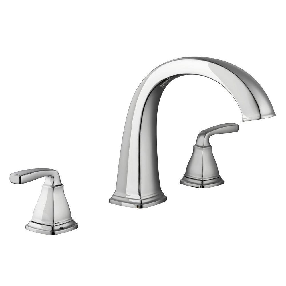 Mason 2-Handle Deck-Mount Roman Tub Faucet in Chrome