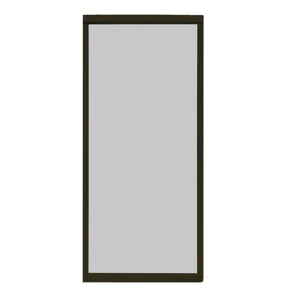 30 in. x 80 in. Ultimate Bronze Metal Sliding Patio Screen