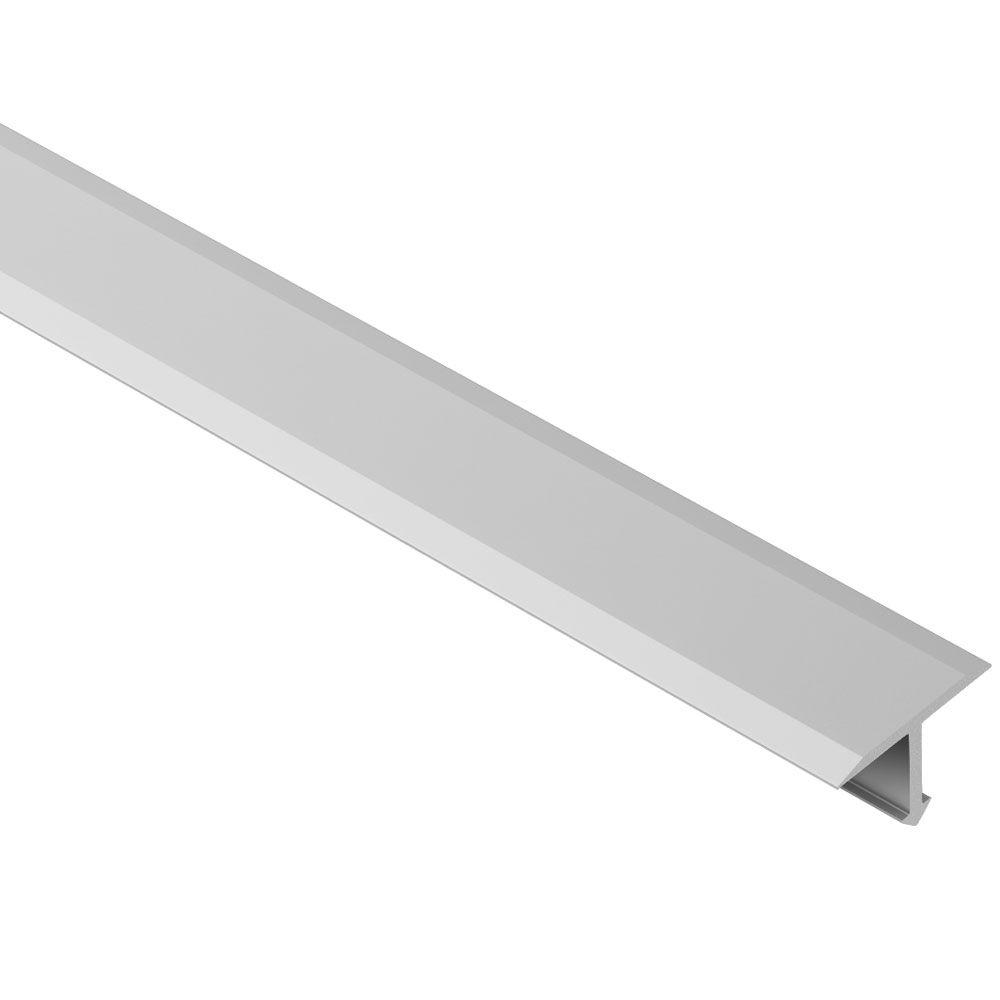 Schluter Reno-T Satin Anodized Aluminum 1 in  x 8 ft  2-1/2 in  Metal  T-Shaped Tile Edging Trim