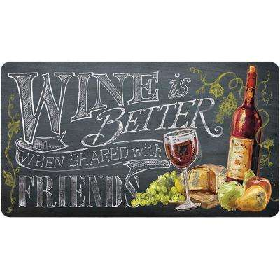 Wine 20 in. x 36 in. Foam Mat