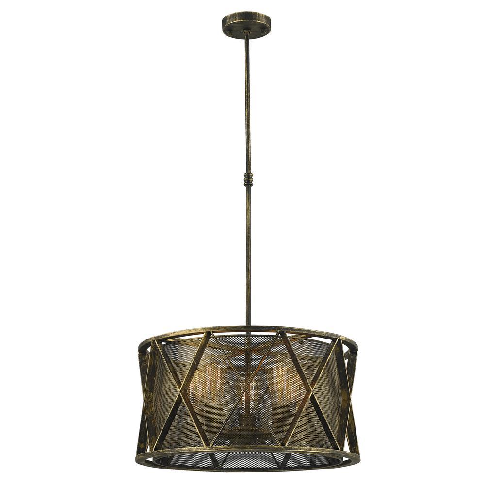 Nautilus 5-Light Antique Bronze Pendant