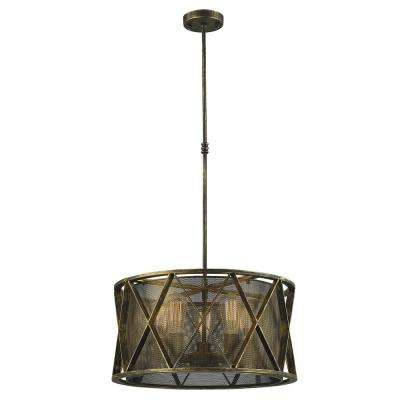 Nautilus 5-Light Antique Bronze Pendant