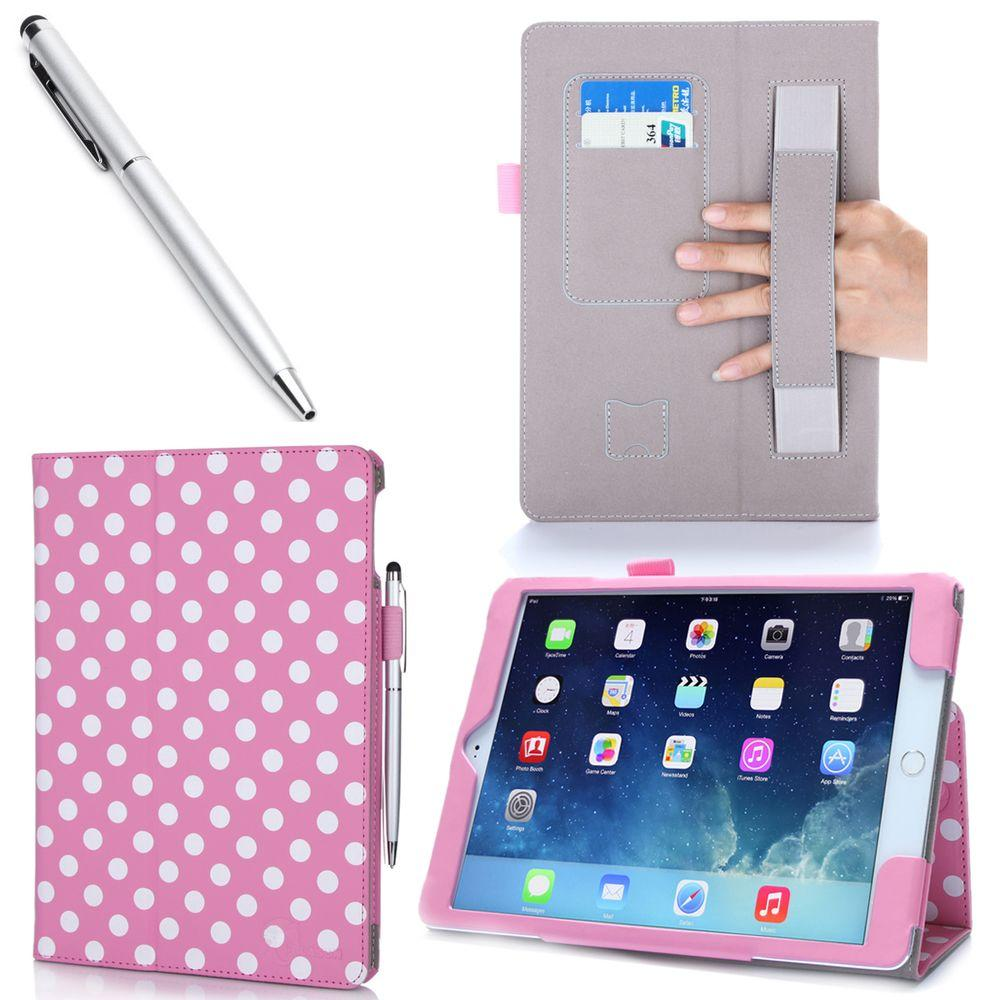 i-Blason 1 Fold Lather Case for iPad Air 2, Dal/Pink
