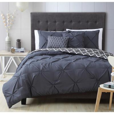 Madrid 5-Piece Charcoal Queen Comforter Set