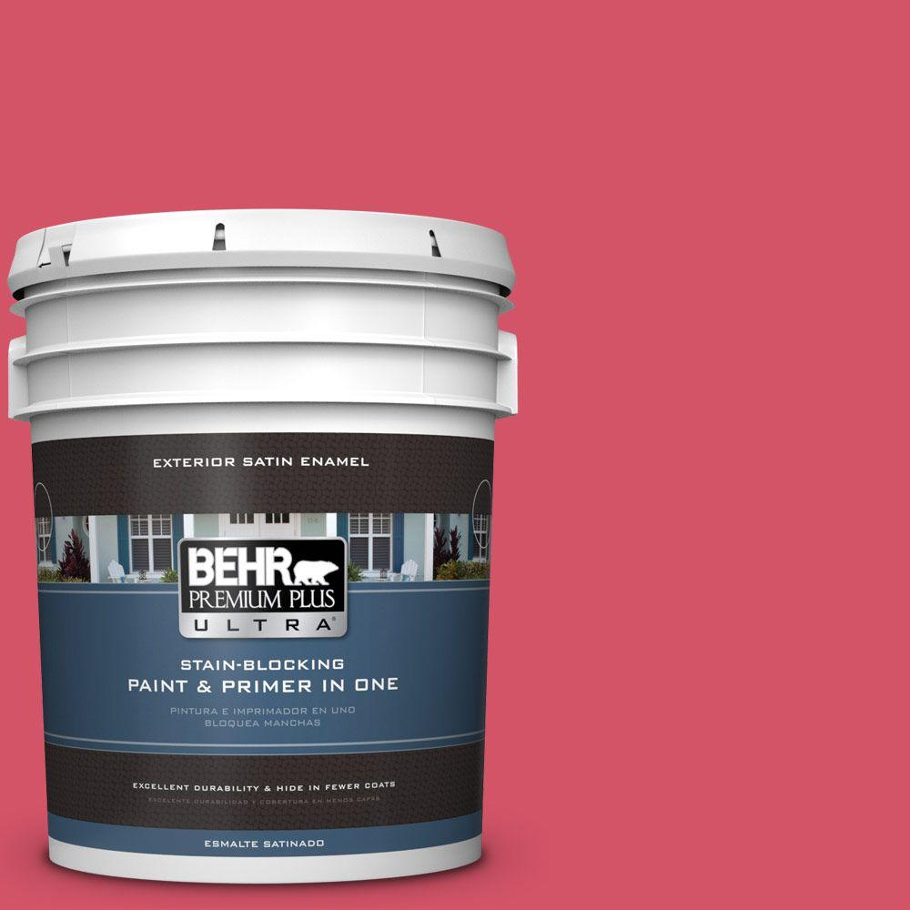 BEHR Premium Plus Ultra 5-gal. #130B-6 Dragon Fruit Satin...
