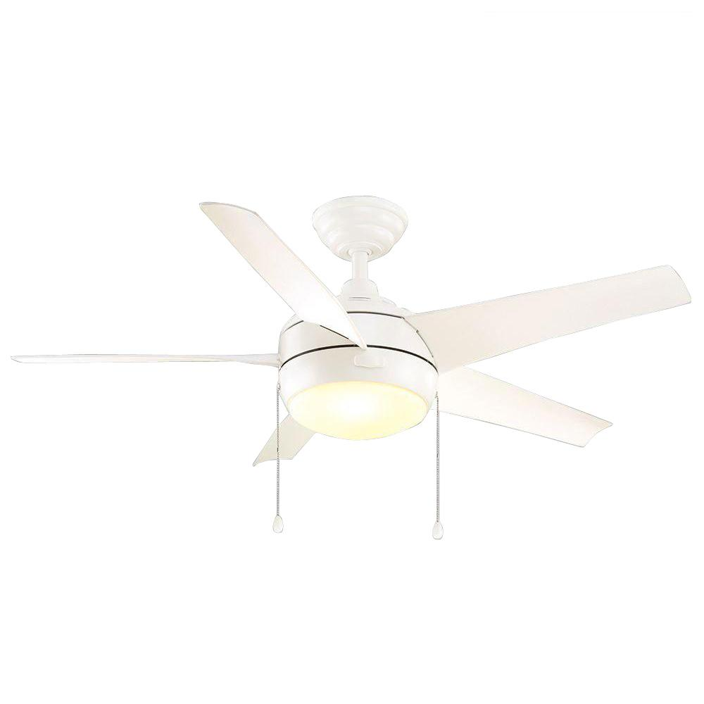 Home Decorators Collection Windward 44 In Led Indoor Matte White Ceiling Fan With Light Kit