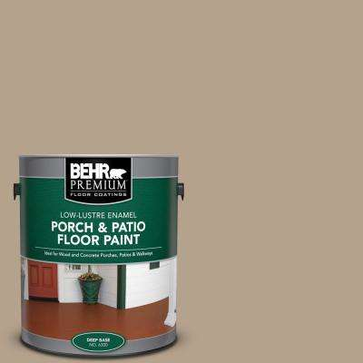 1 gal. #PFC-33 Washed Khaki Low-Lustre Enamel Interior/Exterior Porch and Patio Floor Paint