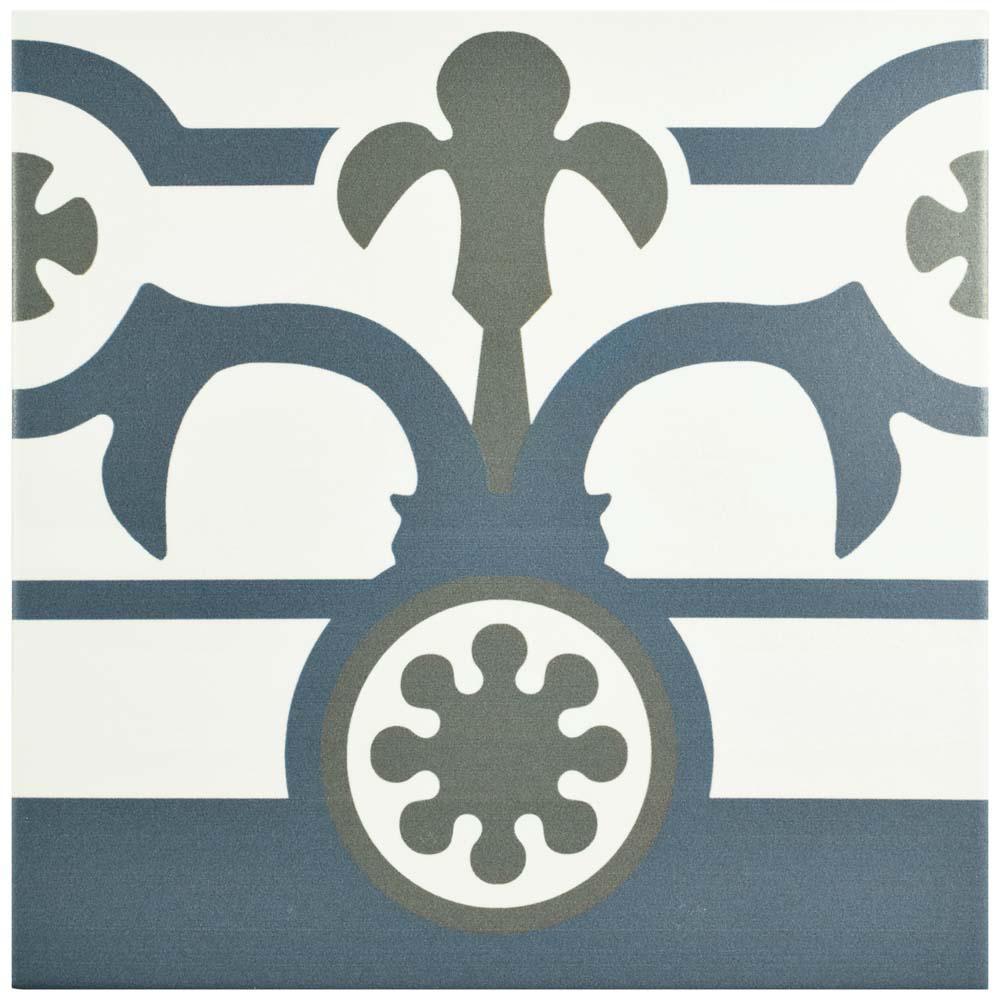 Hidraulico Ducados Cenefa 9-3/4 in. x 9-3/4 in. Porcelain Floor and