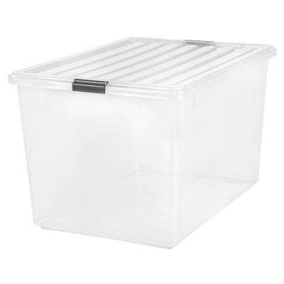 132-Qt. Buckle Down Storage Box in Clear
