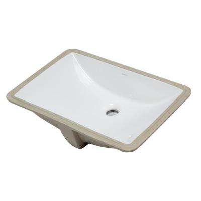 7.1 in. Under Mount Sink Basin in White
