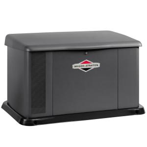 Click here to buy Briggs & Stratton 17,000-Watt Air Cooled Home Standby Generator with 200 Amp Symphony II Transfer Switch by Briggs & Stratton.
