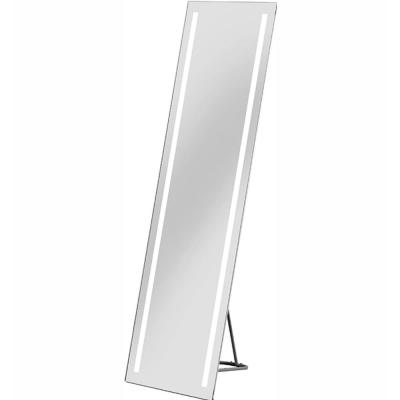 LED Silver Vanity Mirror with Painted Steel Shade