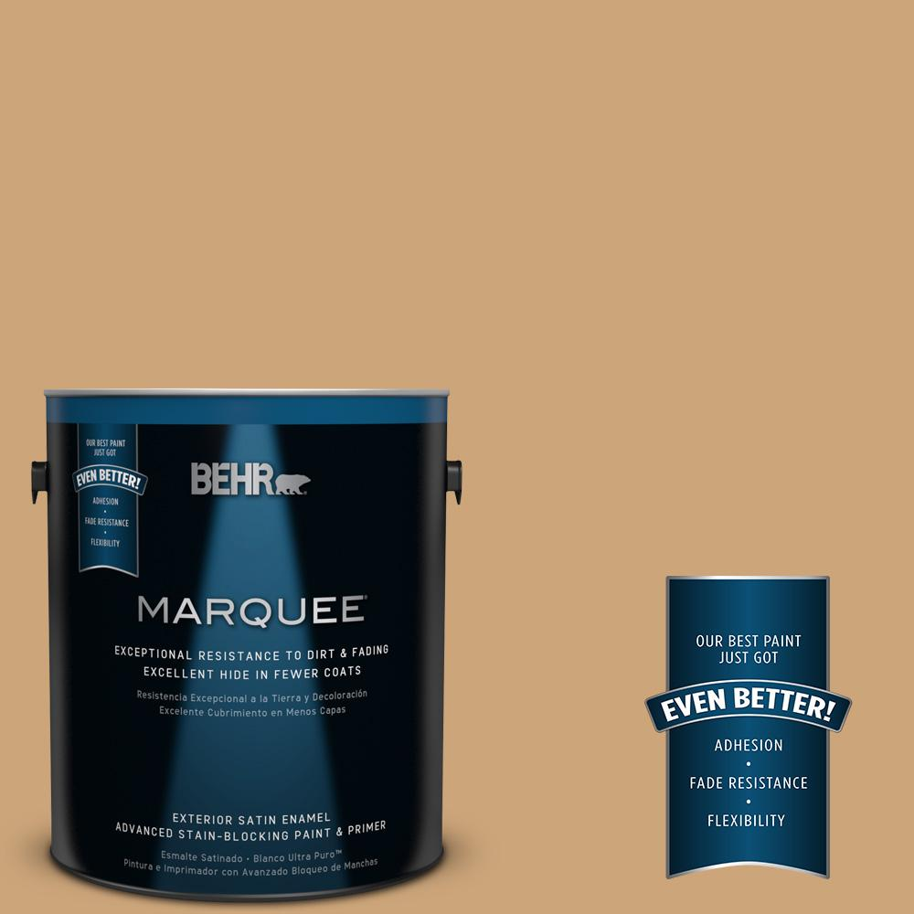 BEHR MARQUEE Home Decorators Collection 1-gal. #HDC-AC-13 Butter Nut Satin Enamel Exterior Paint