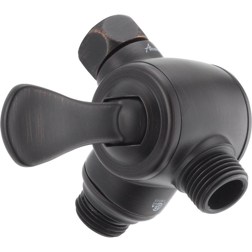 3-Way Shower Arm Diverter for Handheld Shower Head in Venetian Bronze