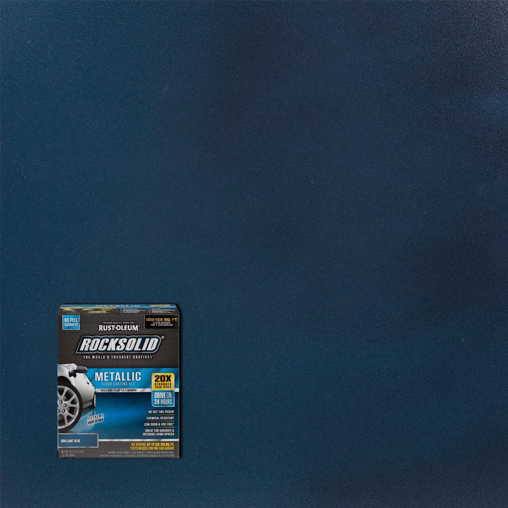 Rust Oleum Rocksolid 70 Oz Metallic Brilliant Blue Garage