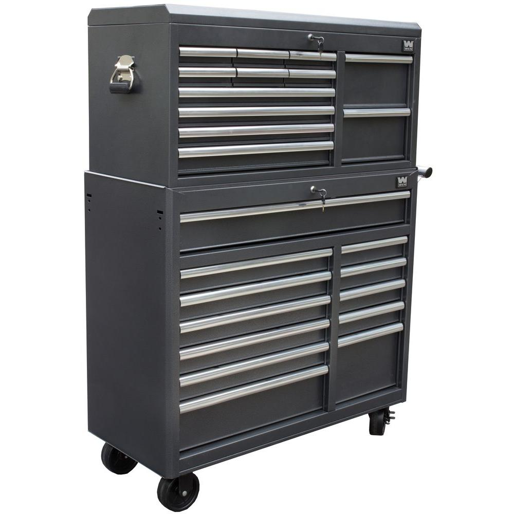 Wen 41 In 24 Drawer Tool Chest And Cabinet Combo In