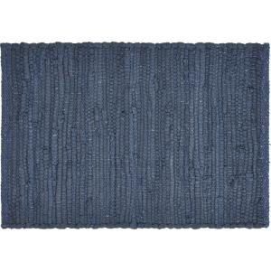 Coast Solid 19 in. x 13 in. Deep Blue Cotton Placemats (Set of 4)