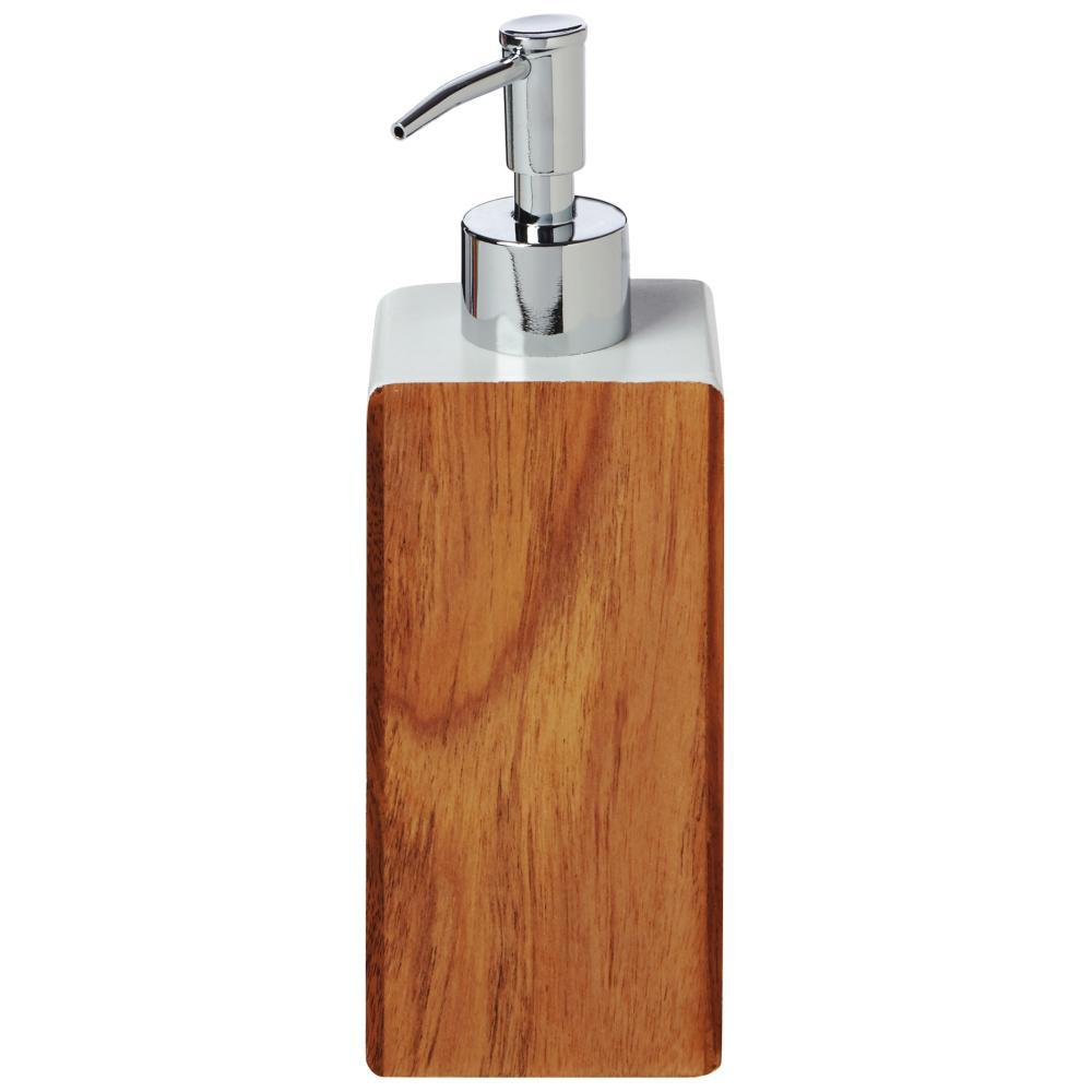 Hedland Lotion Dispenser in Brown and White