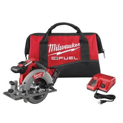 M18 FUEL 18-Volt Lithium-Ion Brushless Cordless 6-1/2 in. Circular Saw Kit with One 5.0 Ah Battery, Charger, Tool Bag
