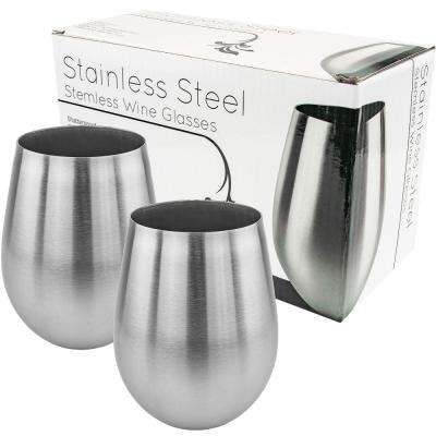 Stainless Stemless Wine Glass (Set of 2)