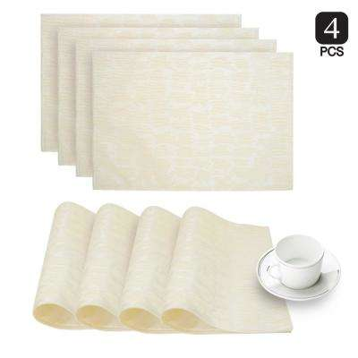Collage Ivory Printed Fabric Placemat (Set of 4)
