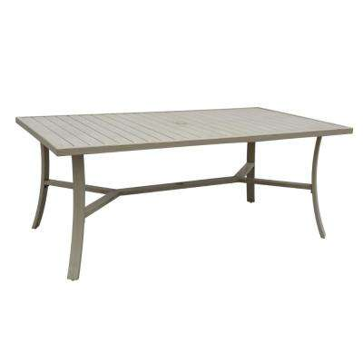 Torino Collection Aluminum Outdoor Rectangle Dining Table