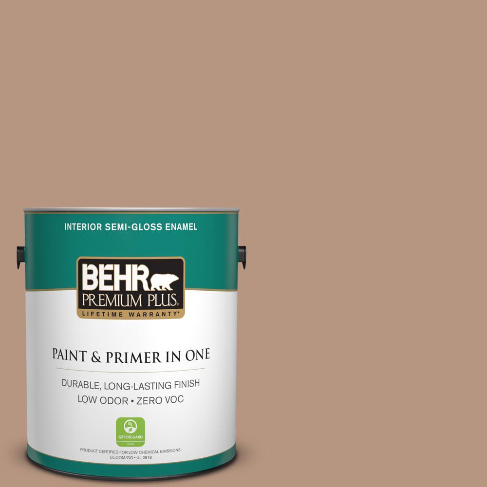 1-gal. #S220-4 Potter's Clay Semi-Gloss Enamel Interior Paint