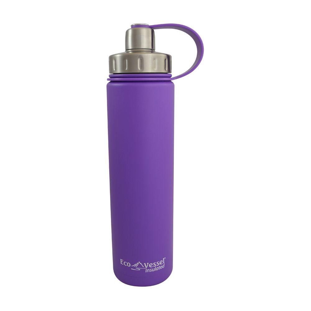 24 oz. Boulder Triple Insulated Bottle with Screw Cap - Purple