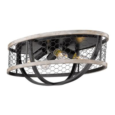 Roost 23.125 in. 4-Light Matte Black Flush Mount