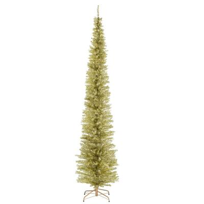 9 ft. Champagne Tinsel Tree
