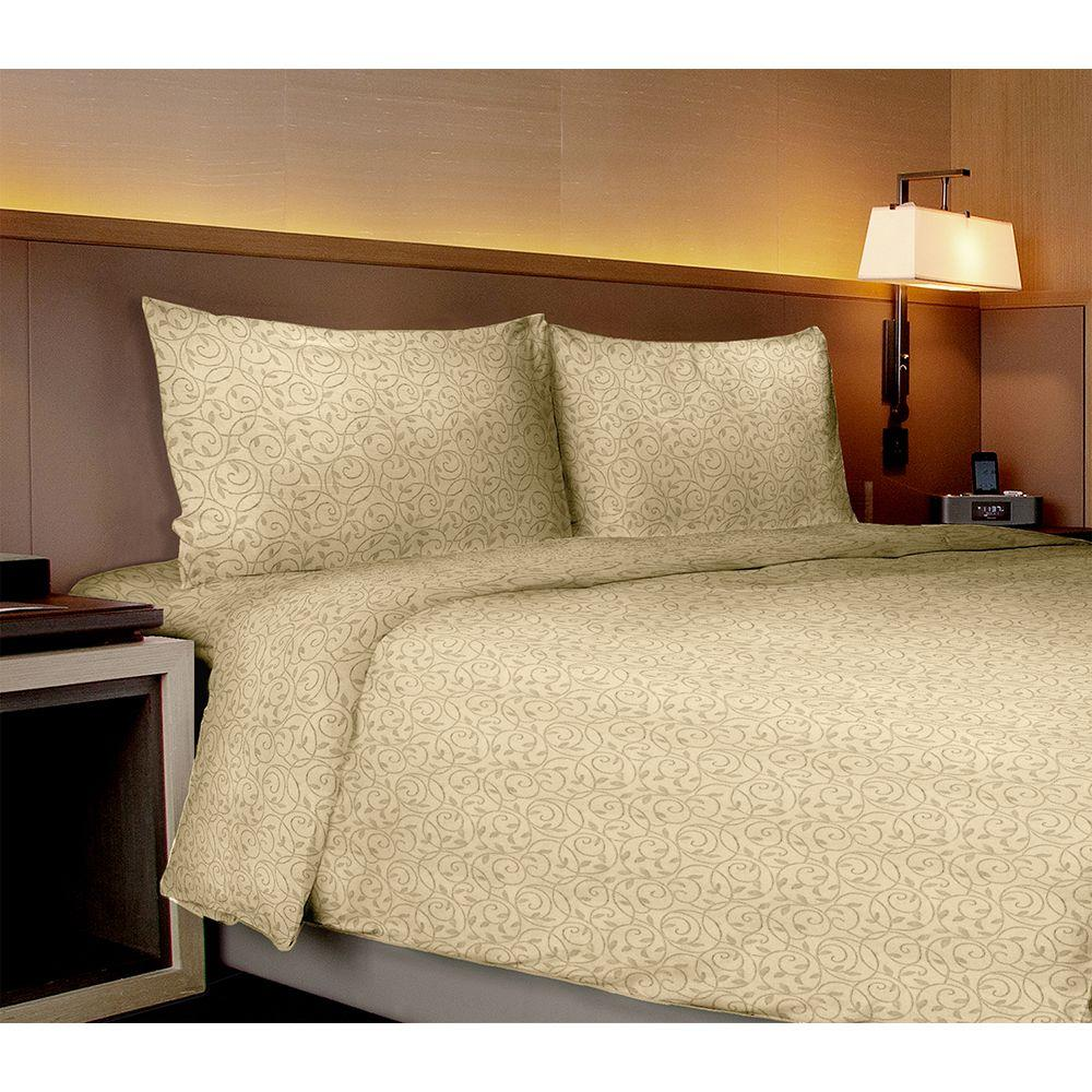 Home Dynamix Willow Collection Vines Ivory Queen Sheet Set (4-Piece)