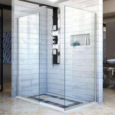 Dreamline Fixed Shower Doors Showers The Home Depot