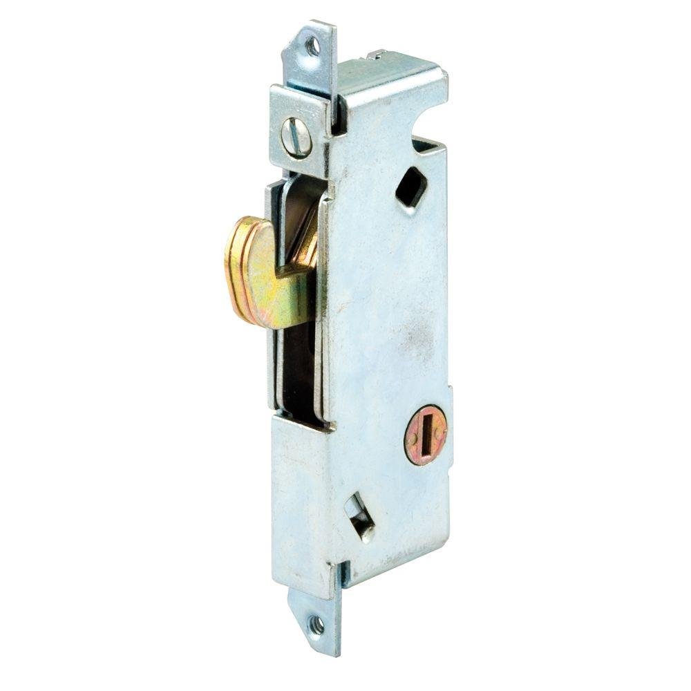 Prime line sliding door mortise lock square face steel e for Home depot sliding door lock