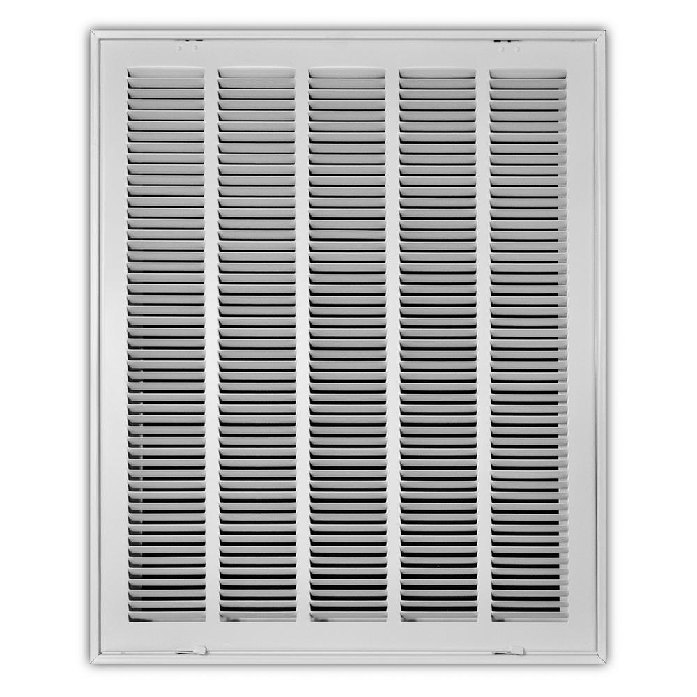 20 in. x 25 in. White Return Air Filter Grille