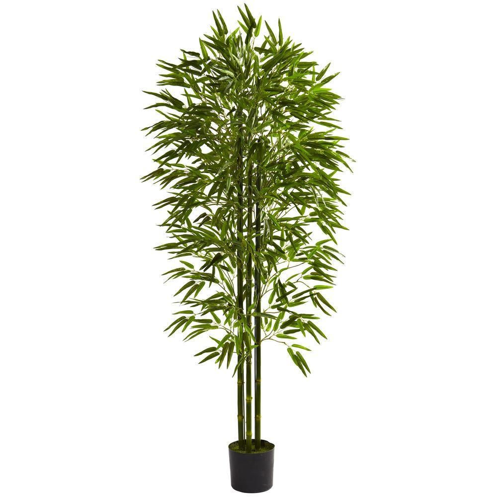 Nearly Natural 6 ft. UV Resistant Indoor/Outdoor Bamboo T...