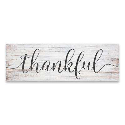 """Thankful"" by Laurent Newman Printed Canvas Wall Art"