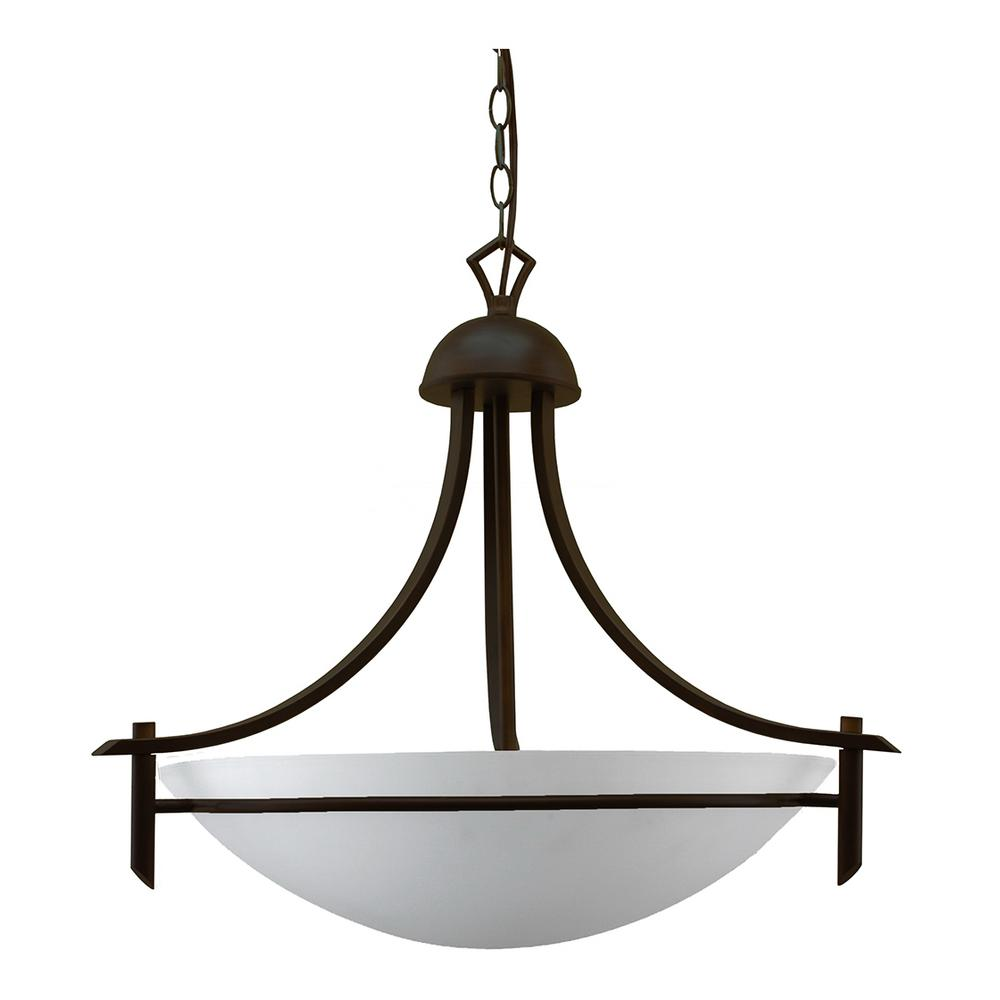World Imports 3-Light Oil-Rubbed Bronze Chandelier With