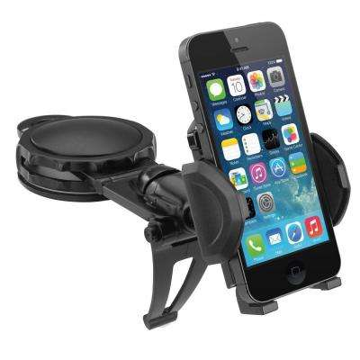 Universal Fully Adjustable Car Dash Mount for Smartphones Android and GPS Rotatable Grips Expands and Adheres
