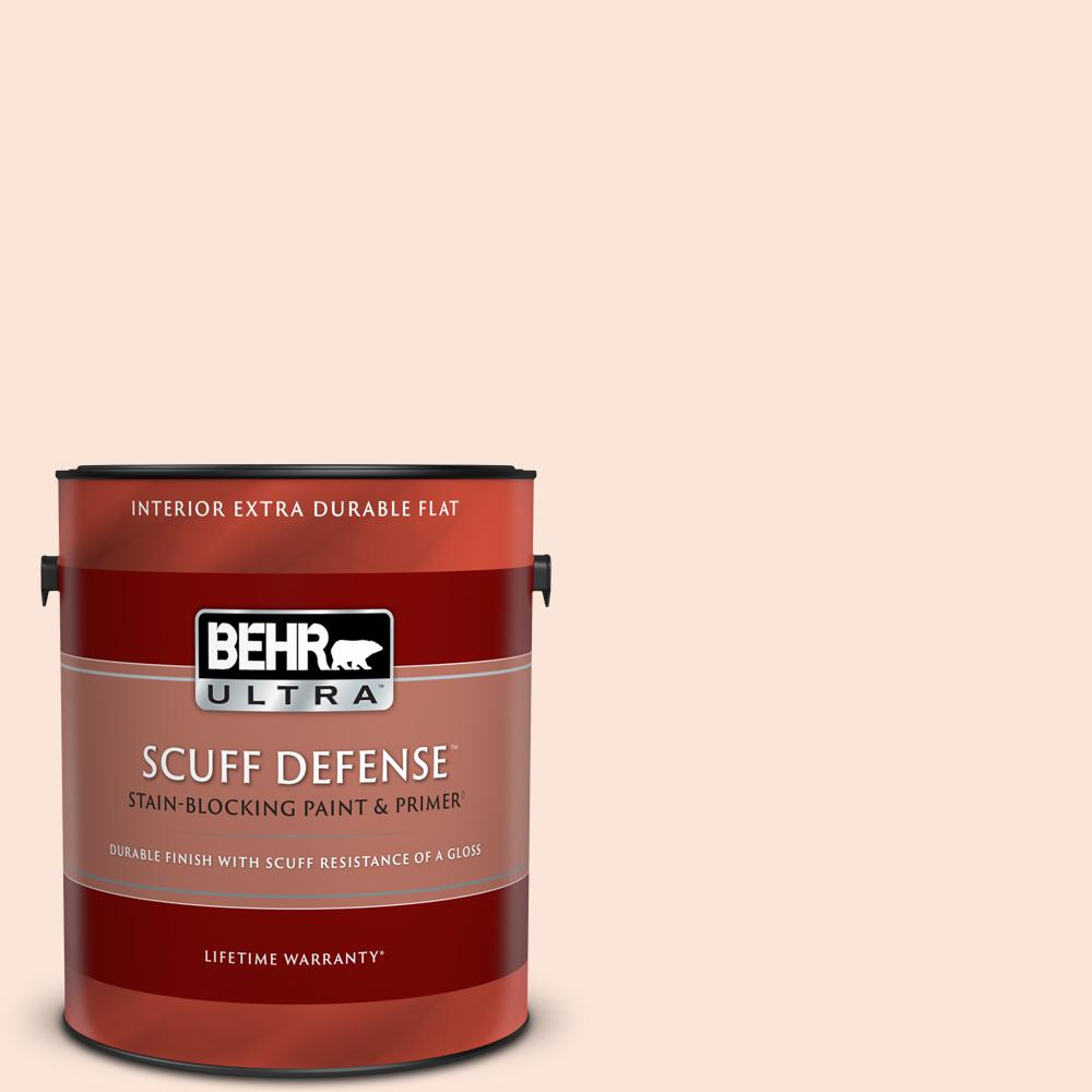 Behr Ultra 1 Gal 210a 1 Cool Cream Extra Durable Flat Interior Paint Primer 172001 The Home Depot